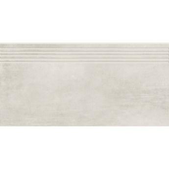 Gres szkliwiony stopnica GRAVA white mat 29,8x59,8 gat. I