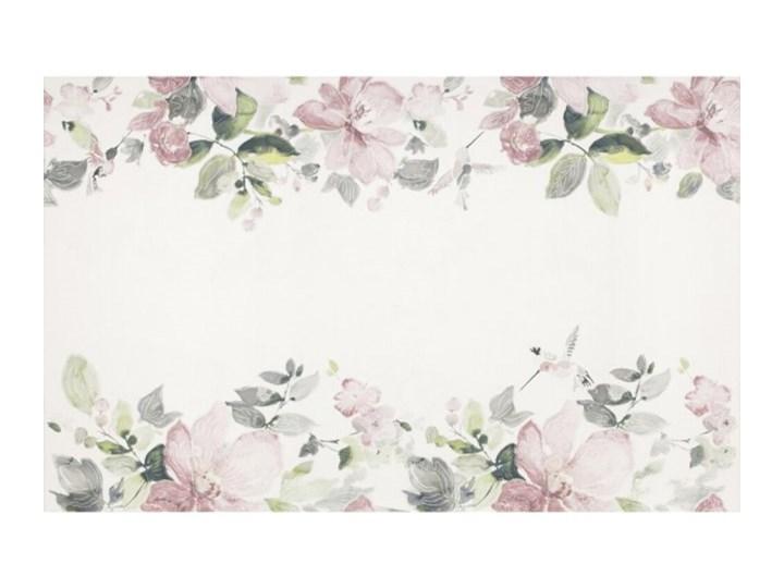 Płytka ścienna AURA biała inserto kwiaty błyszcząca 25x40 gat. I