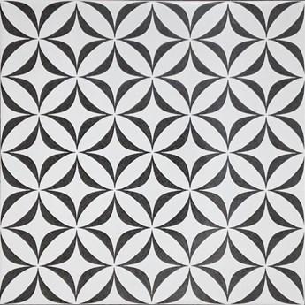 Gres szkliwiony PATCHWORK BLACK&WHITE ORNAMENT 29,8x29,8 gat. II