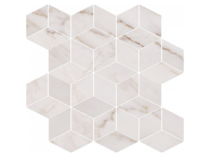 Płytka ścienna CARRARA PULPIS biała mozaika błyszcząca 28x29,7 gat. I