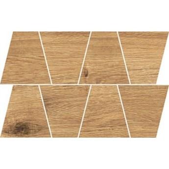 Gres szkliwiony GRAND WOOD RUSTIC bronze MOSAIC TRAPEZE mat 0,8 19x30