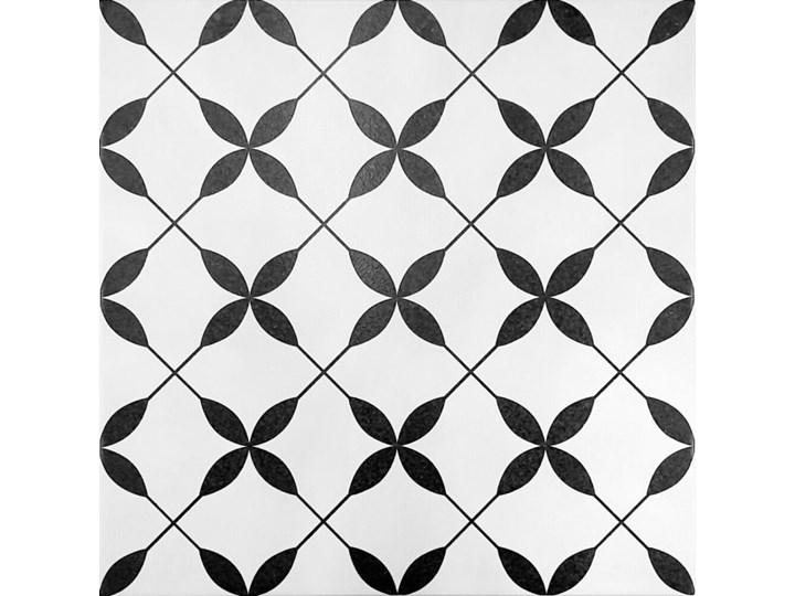 Gres szkliwiony PATCHWORK CONCEPT biało-czarny clover pattern mat 29,8x29,8 gat. I>>PROMOCJA -20 % z KODEM RABATOWYM >>