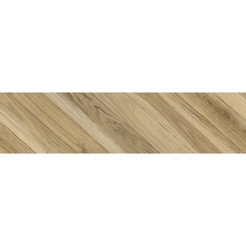 Gres szkliwiony CARRARA CHIC beige wood chevron A mat 22,1x89 gat. I