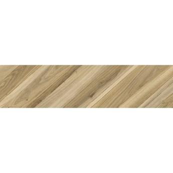 Gres szkliwiony CARRARA CHIC beige wood chevron B mat 22,1x89 gat. I