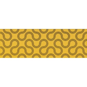 Płytka ścienna SPIN yellow-black geo glossy 25x75 gat. I