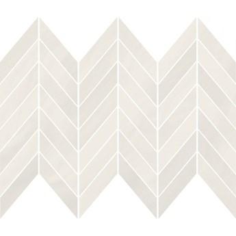 Płytka ścienna mozaika MARKURIA white chevron mat 25,5x29,8 gat. I