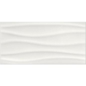 Płytka ścienna BASIC PALETTE white wave structure glossy 29,7x60 gat.