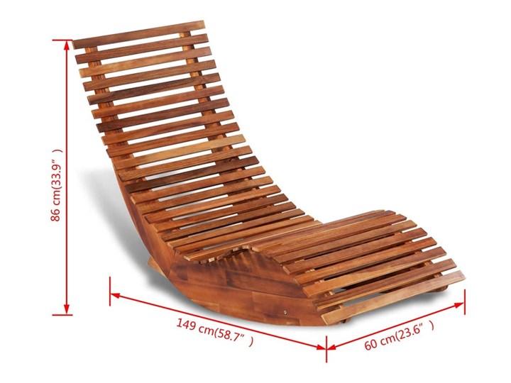 vidaXL Bujany leżak, drewno akacjowe Bujane Kategoria Leżaki ogrodowe