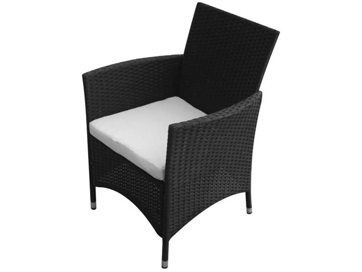 vidaXL 9-cz. zestaw mebli ogrodowych z poduszkami, rattan PE, czarny Aluminium Stal Technorattan Stoły z krzesłami Zawartość zestawu Krzesła