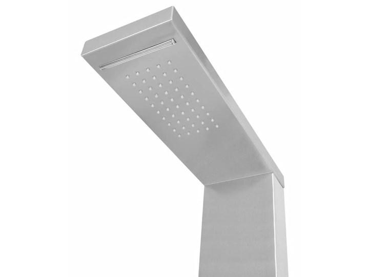 vidaXL Panel prysznicowy ze stali nierdzewnej, kwadratowy Ścienny Kolor Biały