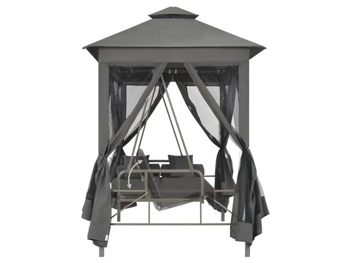 vidaXL Huśtawka ogrodowa z baldachimem, 220x160x240 cm, antracyt, stal Kategoria Huśtawki ogrodowe