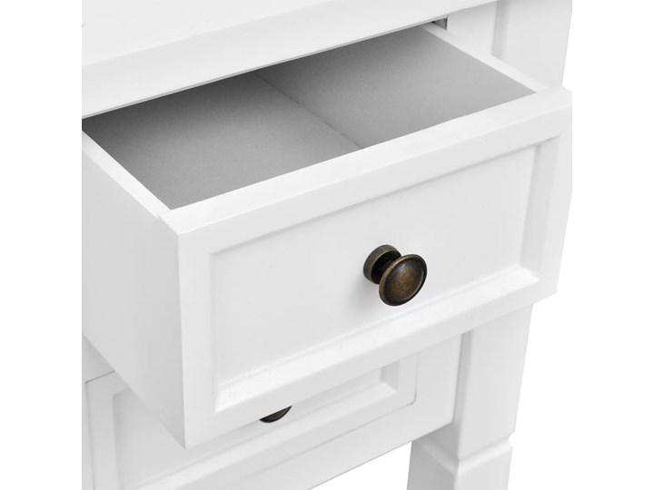 vidaXL Biurko z 5 szufladami, białe Sosna Płyta MDF Biurko tradycyjne Pomieszczenie Biuro