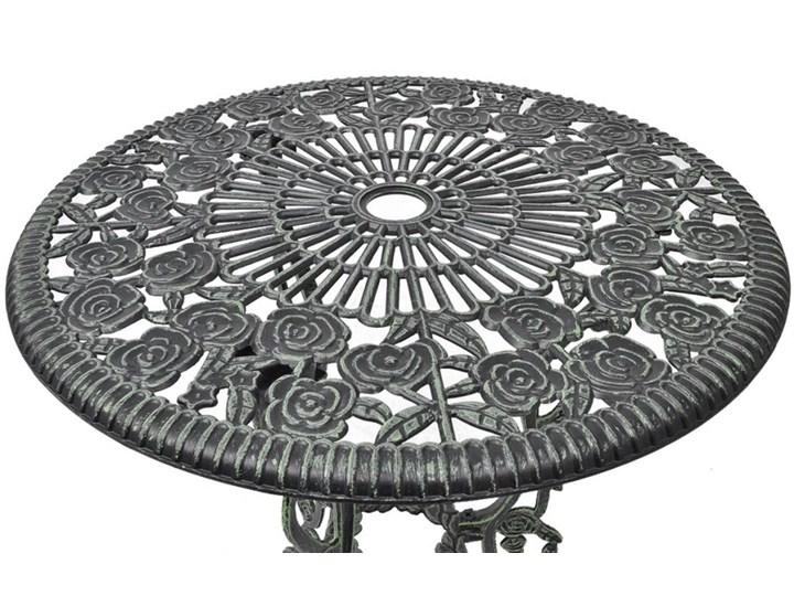 vidaXL 3-cz. zestaw mebli bistro ze stopu aluminium, zielony Stoły z krzesłami Żeliwo Zawartość zestawu Krzesła