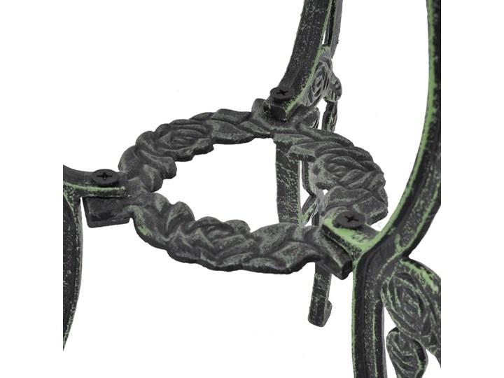 vidaXL 3-cz. zestaw mebli bistro ze stopu aluminium, zielony Żeliwo Stoły z krzesłami Zawartość zestawu Stół