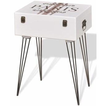 vidaXL Szafka w kształcie walizki, 40x30x57 cm, biała