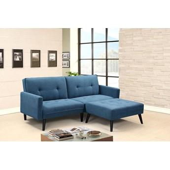 Rozkładana pikowana sofa Lanila - popielata