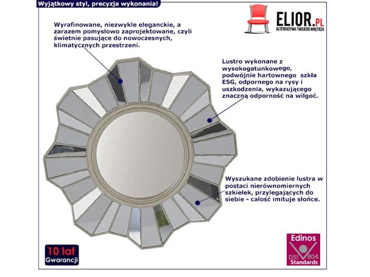 Glamour lustro Silia - okrągłe Lustro bez ramy Ścienne Pomieszczenie Salon