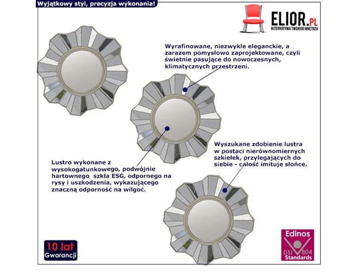 Glamour zestaw luster Silia - okrągłe Ścienne Lustro bez ramy Kategoria Lustra