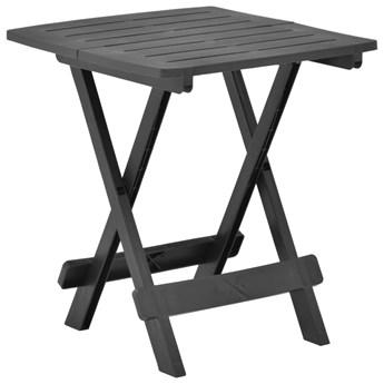 vidaXL Składany stolik ogrodowy, antracytowy, 45x43x50 cm, plastik