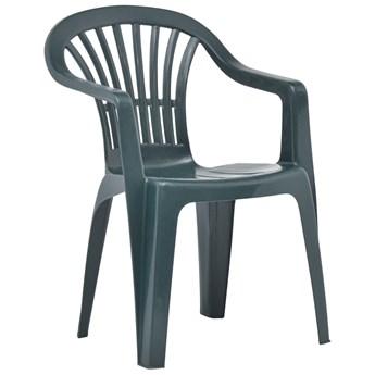 vidaXL Krzesła ogrodowe układane w stos, 45 szt., plastikowe, zielone