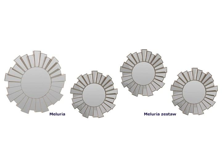 Glamour lustro Meluria - okrągłe Kolor Szary Lustro bez ramy Ścienne Kategoria Lustra
