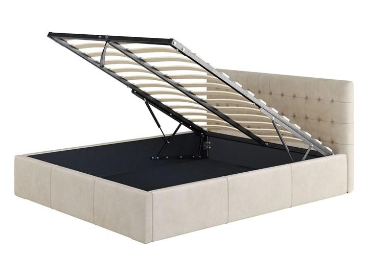 Nowoczesne łóżko do sypialni z pojemnikiem VERO / kolory do wyboru Metal Drewno Tkanina Kolor Szary