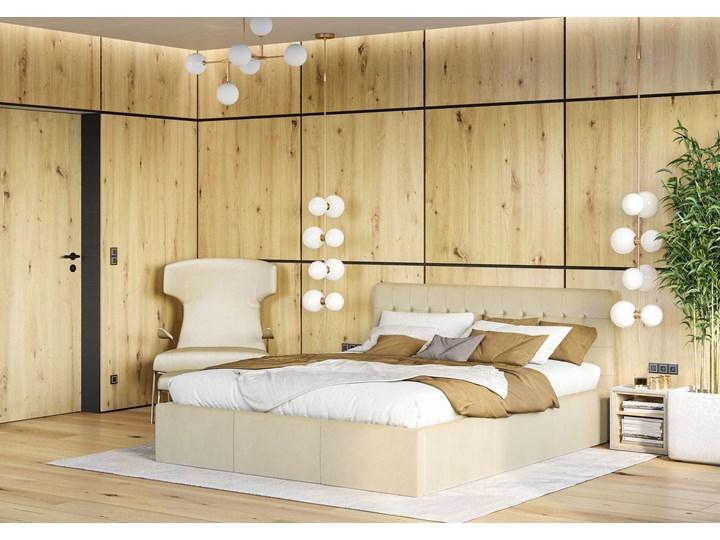 Nowoczesne łóżko do sypialni z pojemnikiem VERO / kolory do wyboru Zagłówek Z zagłówkiem Drewno Tkanina Metal Styl Nowoczesny