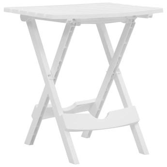vidaXL Składany stół ogrodowy, 45,5x38,5x50 cm, biały
