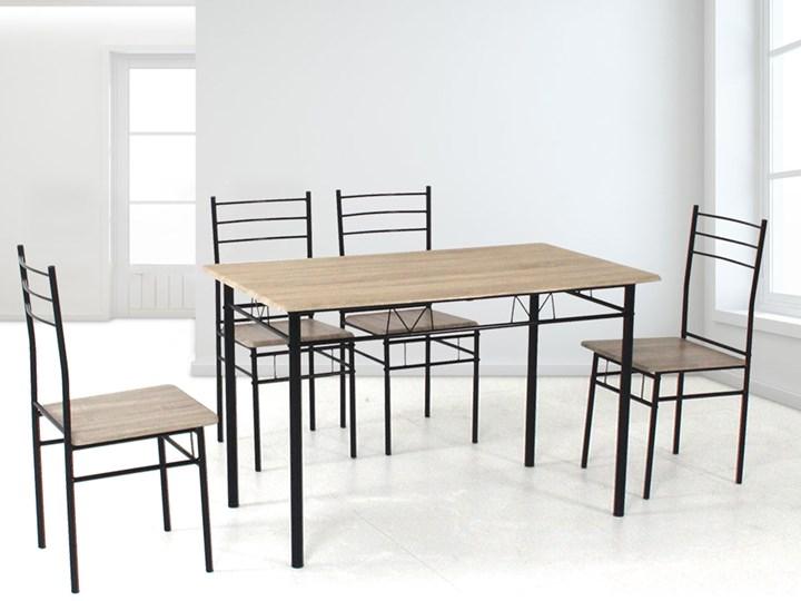HOME DECOR ZESTAW DO JADALNI JULIA3 DREWNO STÓŁ PROSTOKĄTNY 110x60 4 KRZESŁA Kategoria Stoły z krzesłami