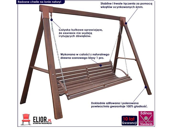 Ogrodowa huśtawka drewniana Magis 3X - 160 cm Kategoria Huśtawki ogrodowe Materiał stelaża Drewno