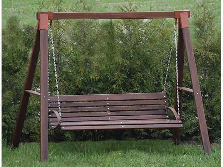 Ogrodowa huśtawka drewniana Magis 3X - 160 cm Kolor Brązowy Kategoria Huśtawki ogrodowe