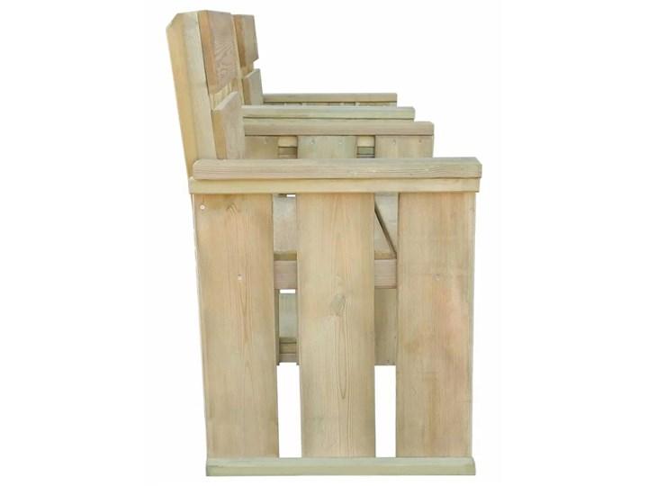 Drewniana ławka ogrodowa Larius - zielona Długość 150 cm Drewno Z oparciem Kategoria Ławki ogrodowe Styl Rustykalny