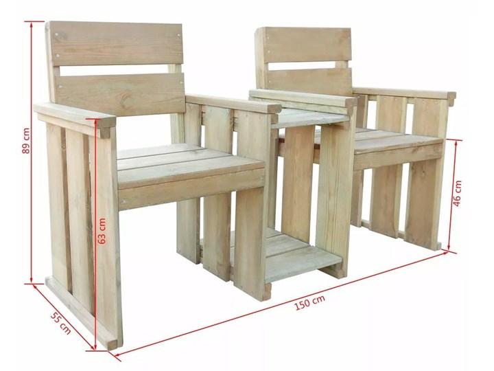 Drewniana ławka ogrodowa Larius - zielona Z oparciem Drewno Kategoria Ławki ogrodowe Długość 150 cm Styl Rustykalny