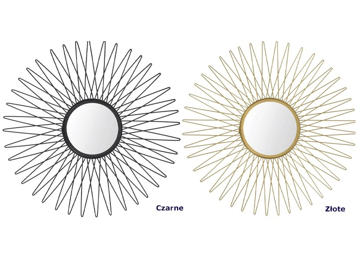 Stylowe lustro Orea - złote