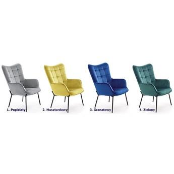 Fotel do salonu Zefir 2X - ciemna zieleń