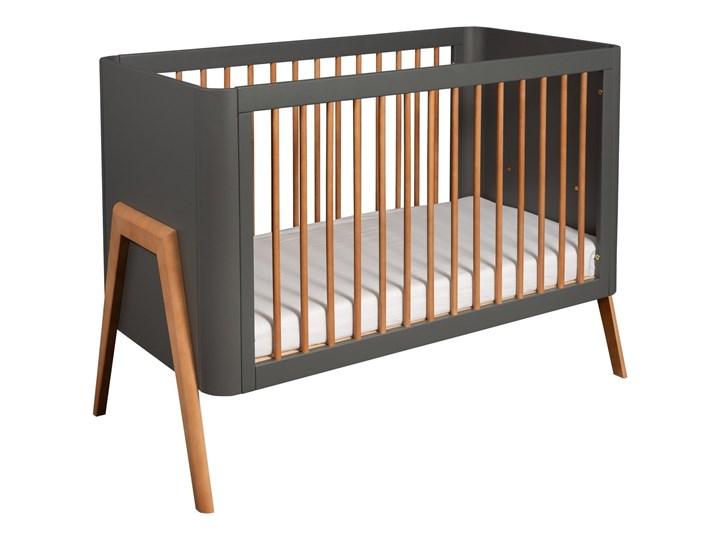Troll Nursery łóżeczko Torsten dziecięce 120x60 (k.ciemny szary+teak)
