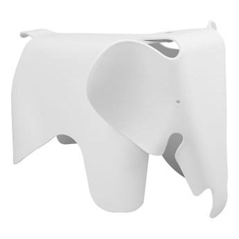Designerski stołek Elephant biały