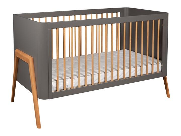 Troll Nursery Torsten łóżeczko dziecięce 140x70 (k. szary + teak)