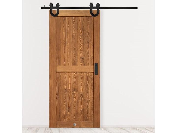 FINKA Drzwi przesuwne Drzwi pokojowe Kolor Brązowy Szerokość 70 cm Szerokość 100 cm Szerokość 80 cm Szerokość 90 cm Drewno sosnowe Szerokość 110 cm Kategoria Drzwi wewnętrzne