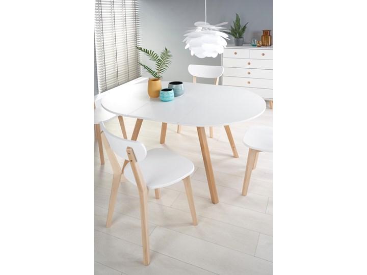 Skandynawski stół z okrągłym blatem Ruben Rozkładanie Rozkładane Rozkładanie