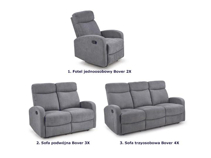 Podwójna sofa rozkładana Bover 3X - popielata Głębokość 158 cm Szerokość 128 cm Stała konstrukcja Funkcje Z funkcją relaks