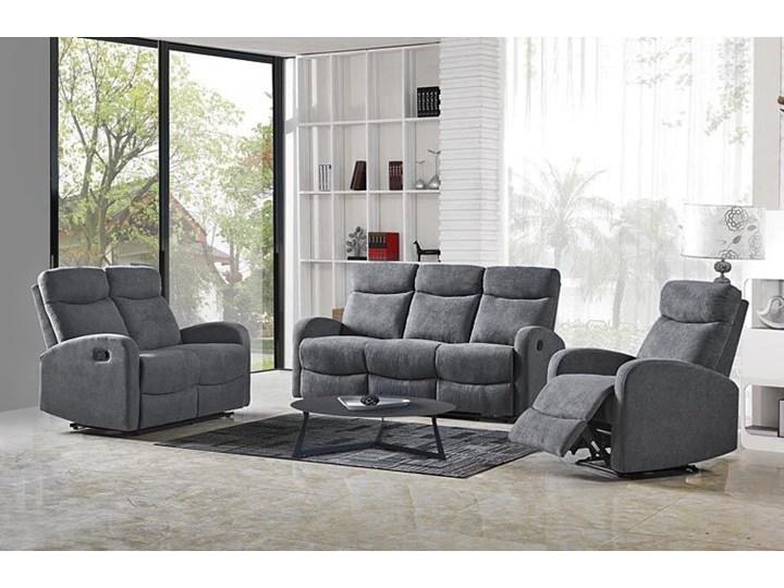 Podwójna sofa rozkładana Bover 3X - popielata Szerokość 128 cm Głębokość 158 cm Stała konstrukcja Materiał obicia Tkanina