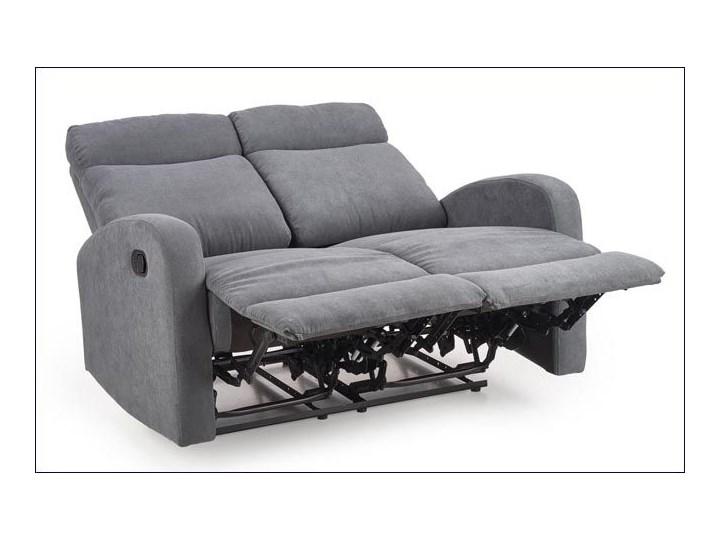 Podwójna sofa rozkładana Bover 3X - popielata Stała konstrukcja Szerokość 128 cm Głębokość 158 cm Typ Gładkie