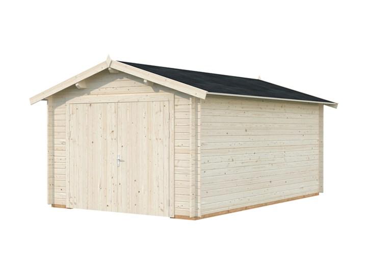 Garaż drewniany na jeden samochód Kategoria Pozostała architektura ogrodowa