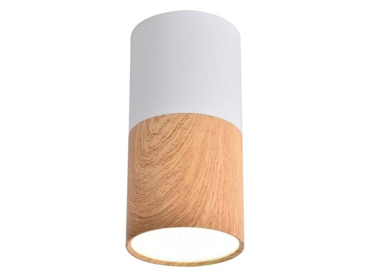 Oprawa natynkowa Tuba 1 x 50 W GU10 biało-drewniana Okrągłe Oprawa stropowa Kategoria Oprawy oświetleniowe