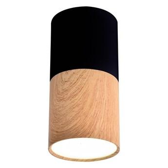 Oprawa natynkowa Tuba 1 x 50 W GU10 czarno-drewniana