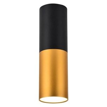 Oprawa natynkowa Tuba 1 x 50 W GU10 czarno-złota