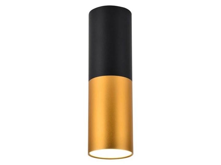 Oprawa natynkowa Tuba 1 x 50 W GU10 czarno-złota Oprawa stropowa Kolor Czarny Okrągłe Kolor Złoty