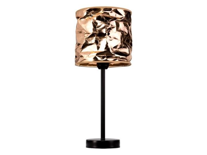 Lampa stołowa z papierowym abażurem Merak Lampa z abażurem Kolor Beżowy