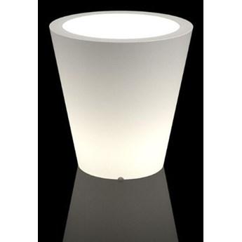 Nowoczesna podświetlana donica LED Ovo Do wnętrz / biały przewód z włącznikiem Zimna